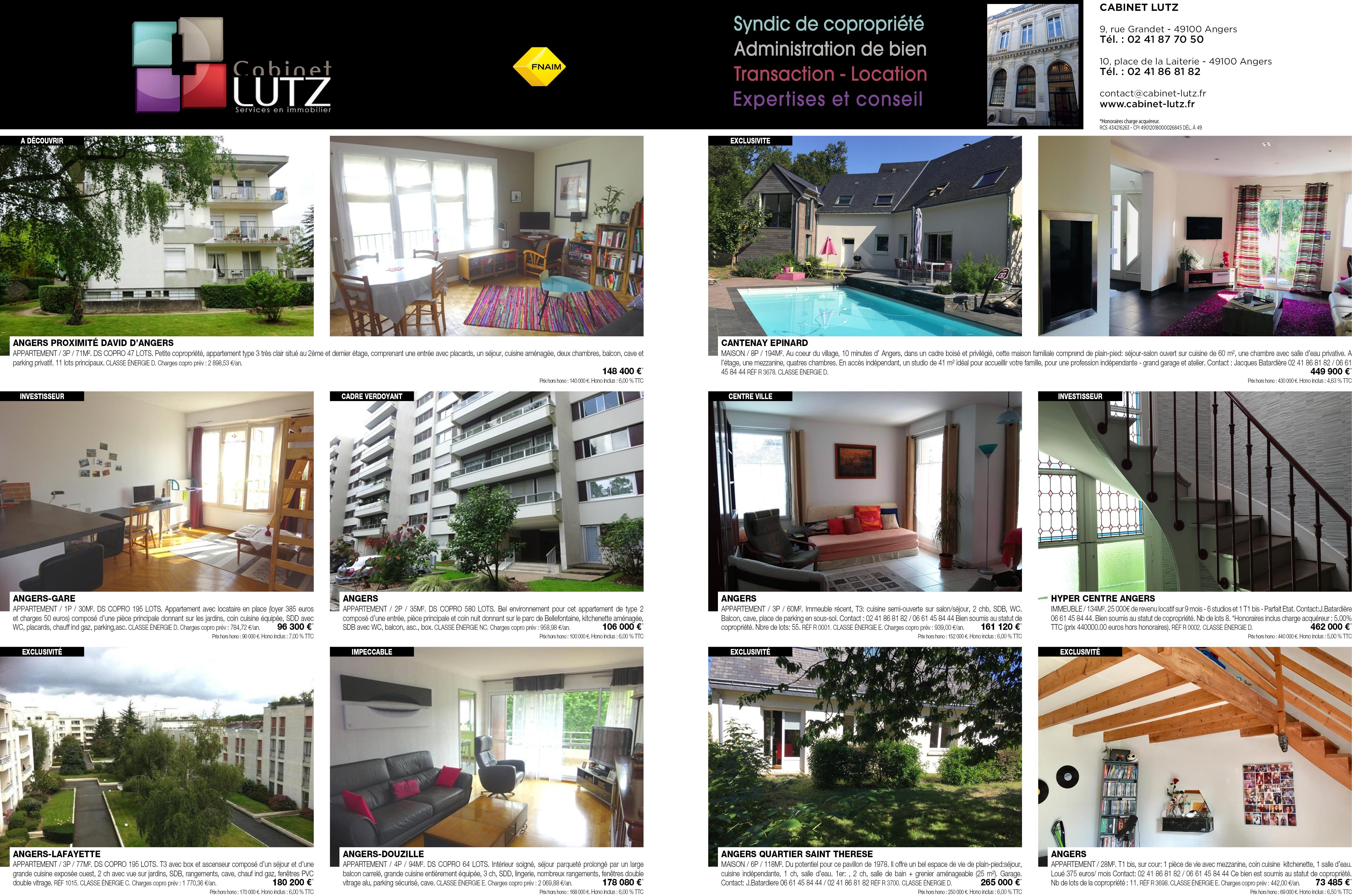 Cabinet lutz services en immobilier vente maison angers - Cabinet branchereau immobilier angers ...